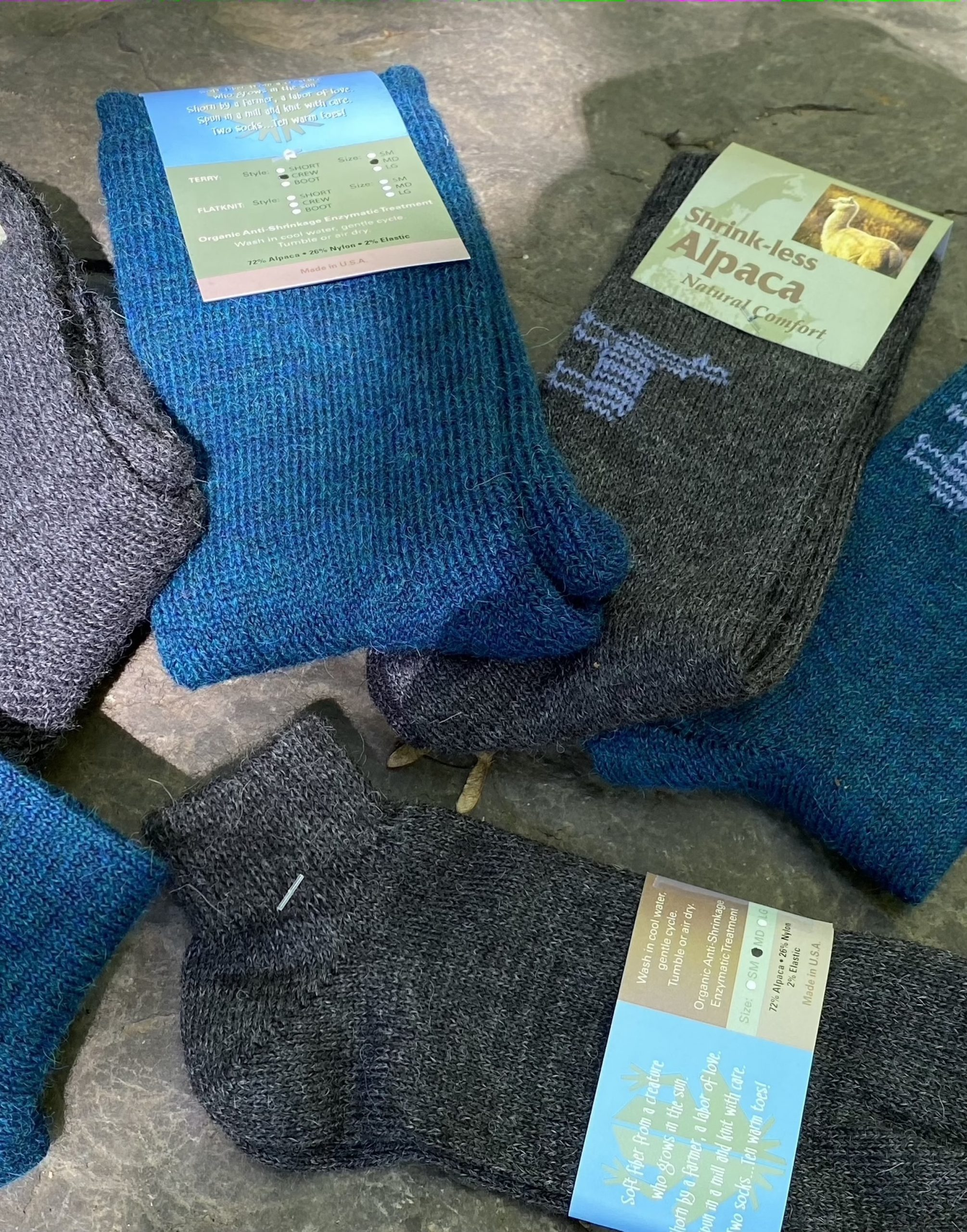 Shrink Resistant Alpaca Socks